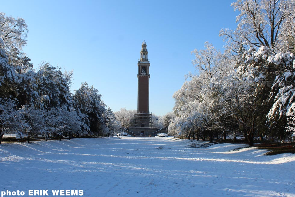The Carillon in snow - Richmond VA