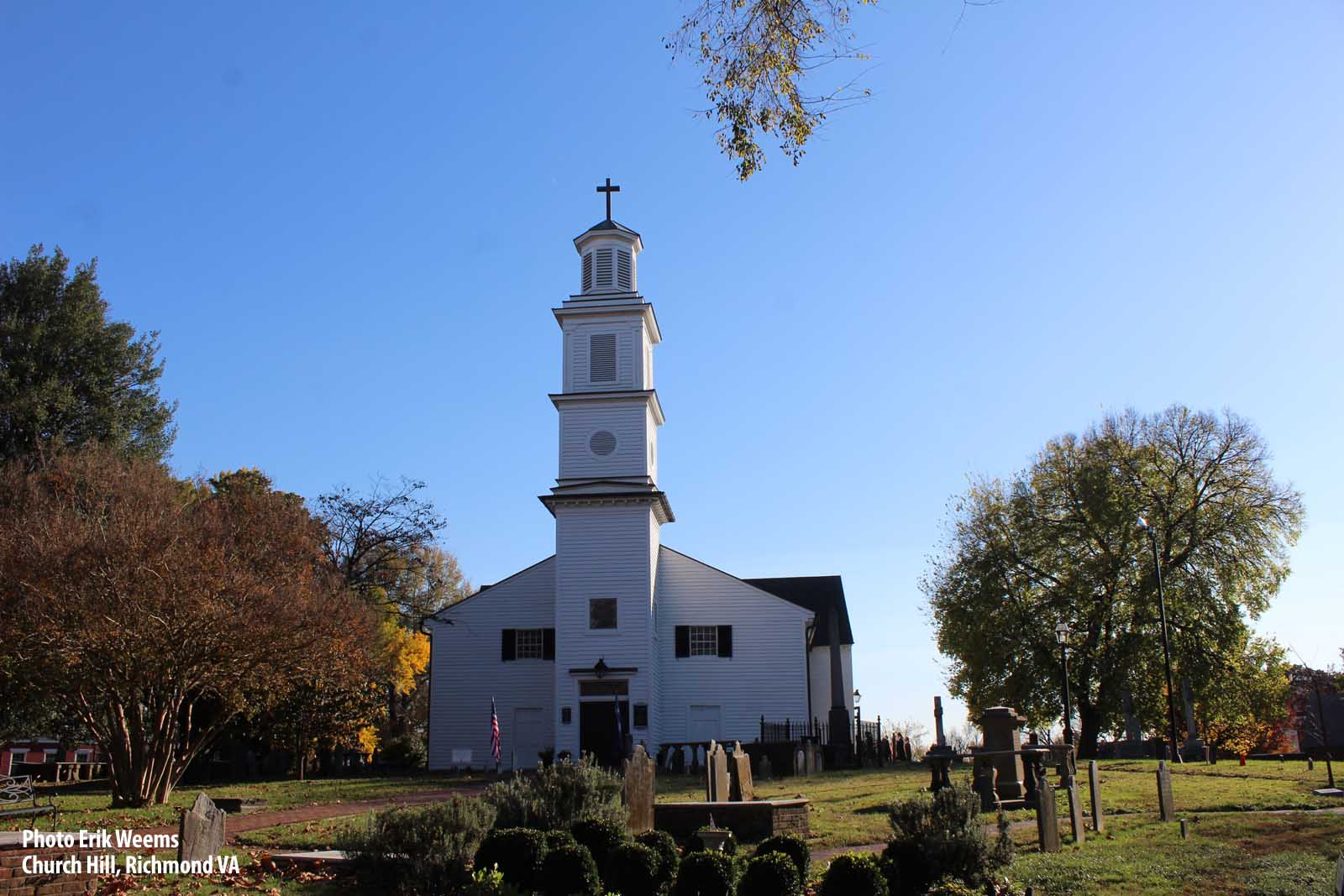 Enlarged autumn photo Church Hill Richmond Virginia