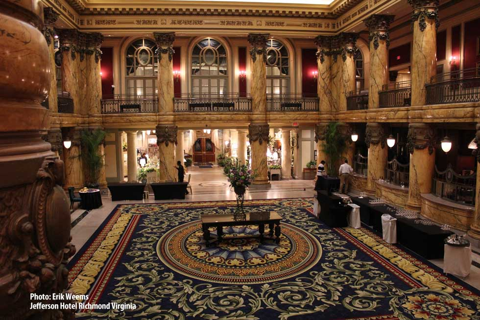 Inside the Jefferson Hotel Richmond Virginia
