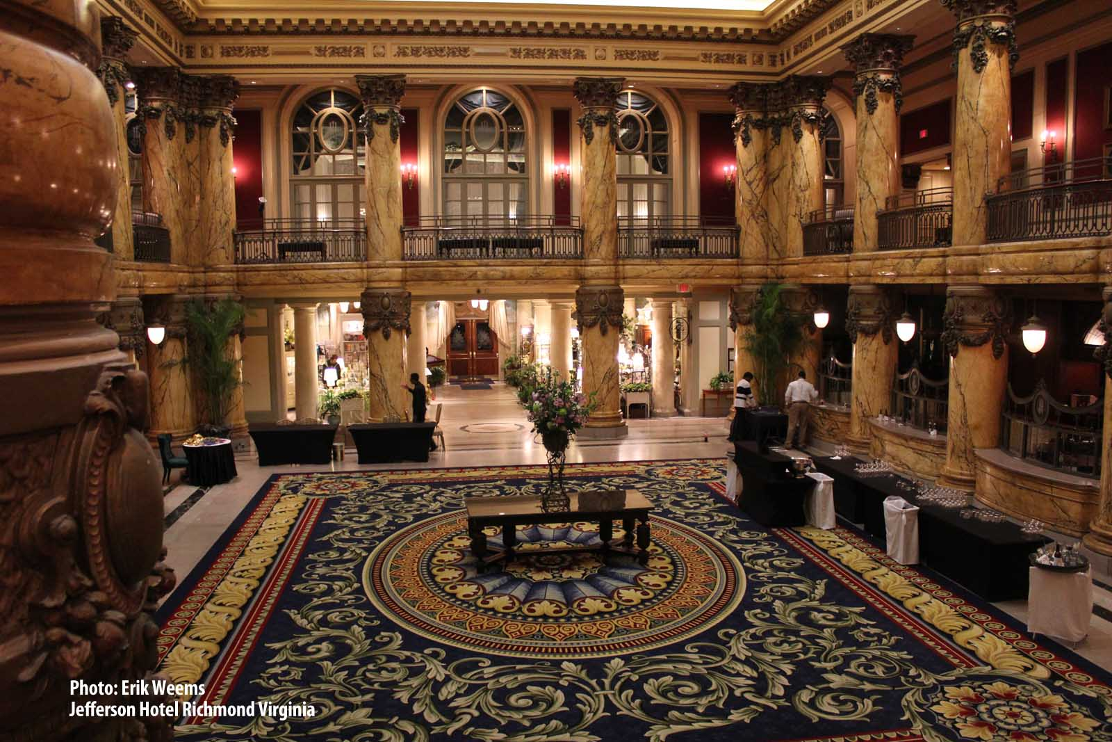 Enlarged - Inside the Jefferson Hotel Richmond Virginia