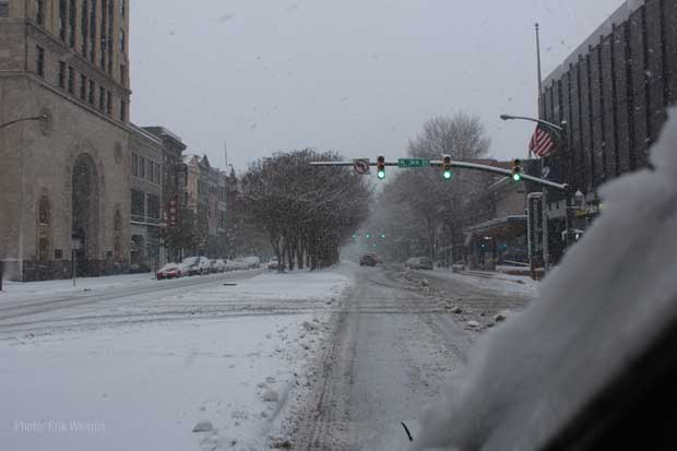 Broad Street Snow Fall Richmond Virginia
