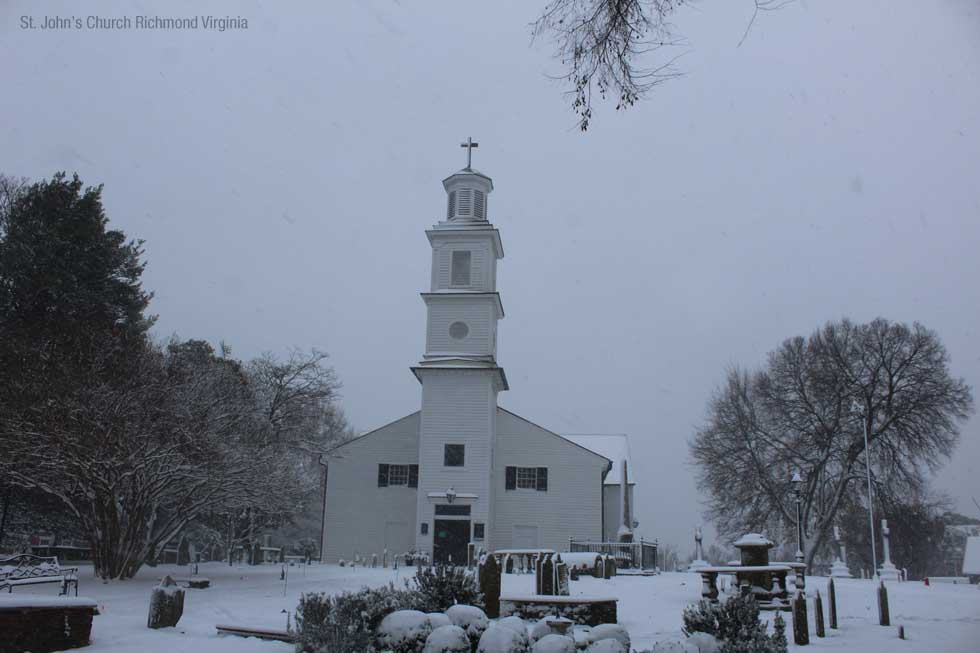 St Johns Church in the Snow