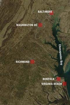 Satellite Photo Richmond from the Sky