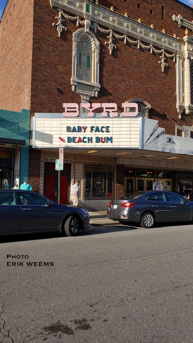 Baby Face and Beach Bum at Byrd Theater in Carytown Richmond Virginia