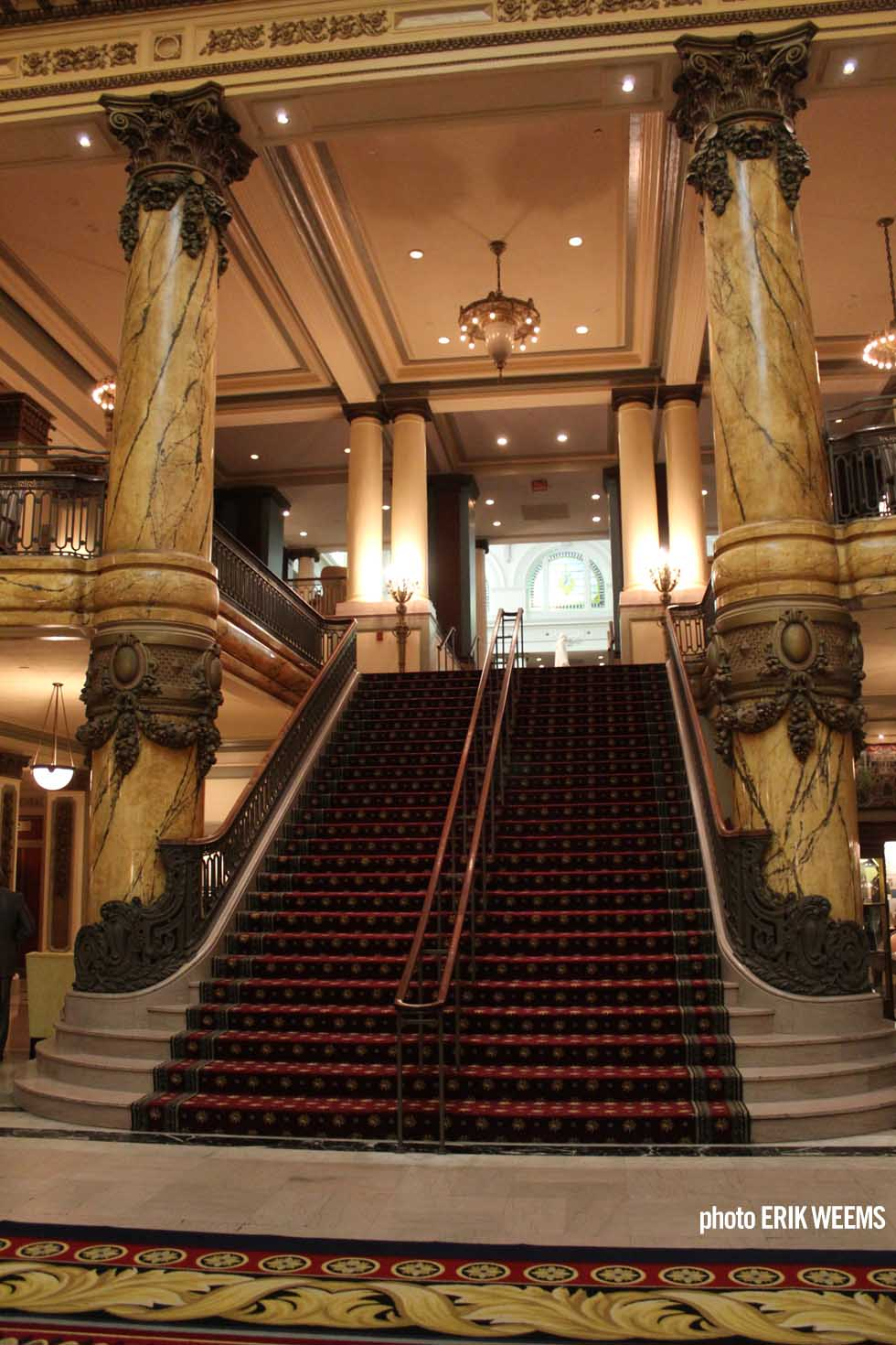 Stairs up in the JeffersonHotel