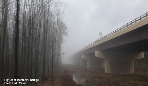 Huguenot Bridge Richmond Virginia Fog