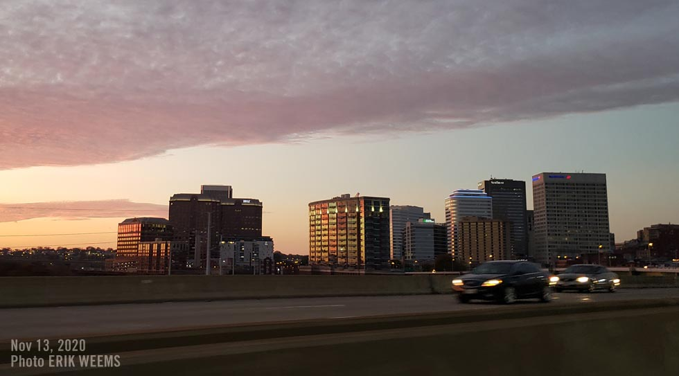 Richmond city sunset