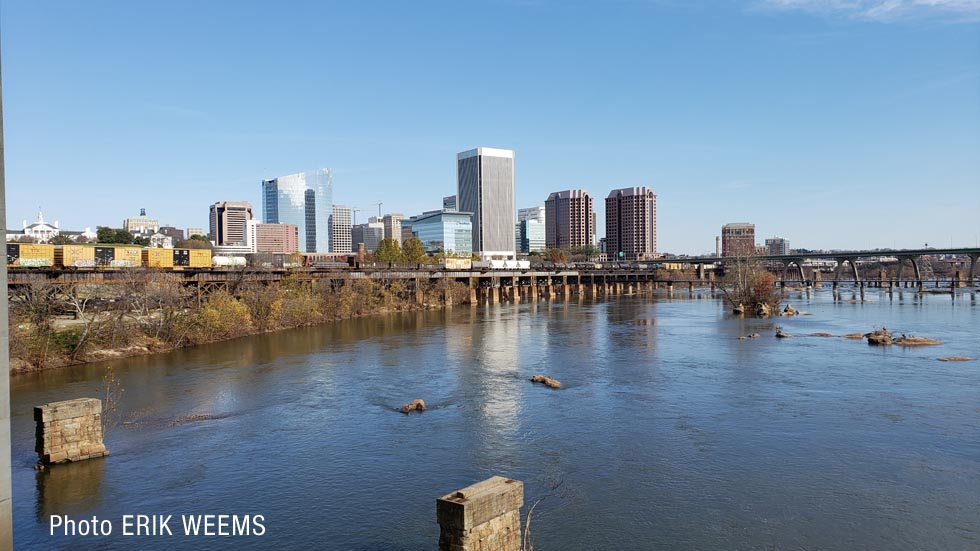 Richmond City on the James River