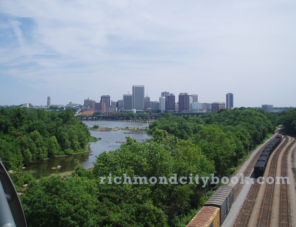Richmond City from the Robert E Lee Bridge
