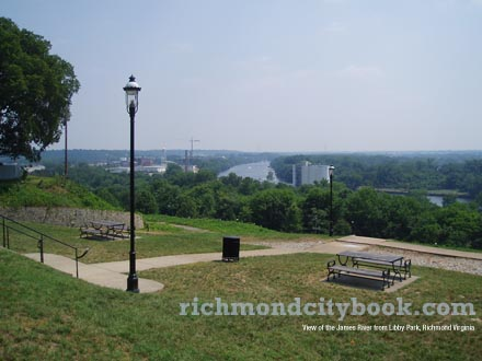 Libby Park View of James River Richmond Virginia